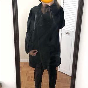 Madewell black city cocoon wool coat